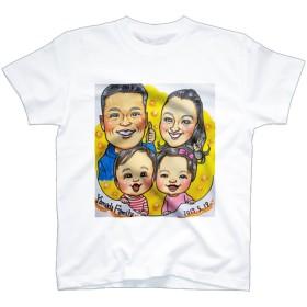 ️大人気 ファミリー似顔絵Tシャツ ︎