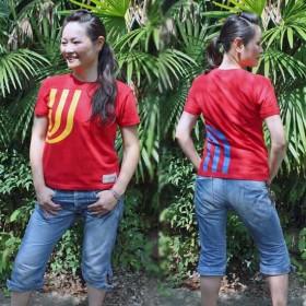 【JIKUU BY SLC】 コットン/レディースTシャツ『3J-スペイン』