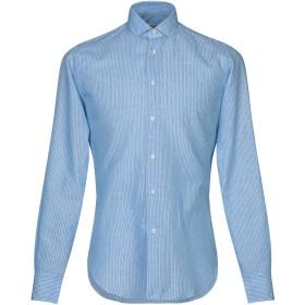 《セール開催中》BRIAN DALES メンズ シャツ アジュールブルー 40 コットン 58% / 麻 42%