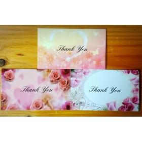 カード 3種 メッセージカード サンキューカード 名刺サイズ