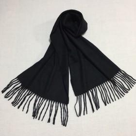 カシミヤマフラー ブラック