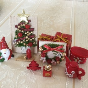 ミニチュア クリスマス クリスマスセット 赤バージョン