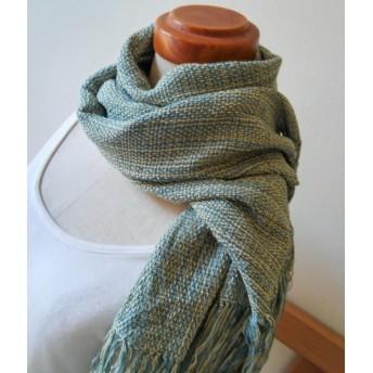 手織りストール A086