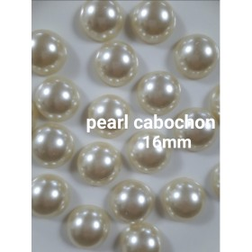 perl cabochon 16mm 12pieces