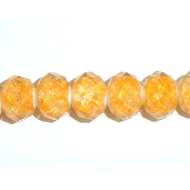 カラービーズ/12mm/5個/da220/薄オレンジ 多面カット/カットビーズ/楕円/トンボ玉/パーツ