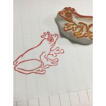 【消しゴムはんこ】生き物4 カエル 【手彫り】