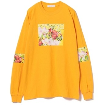 Available Today × Ray BEAMS / 別注 MOOD ロングスリーブTシャツ レディース Tシャツ YELLOW ONE SIZE