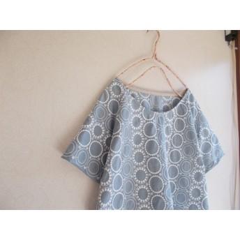 刺繡ラグランプルオーバー