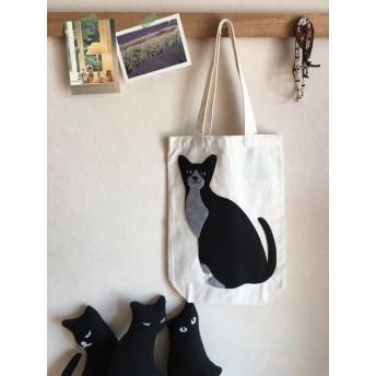 黒グレー猫