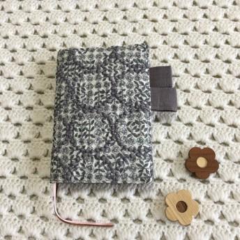 再入荷 ほぼ日手帳カバー オリジナルサイズ ミナペルホネン スリーピング ローズtambourineファブリック使用