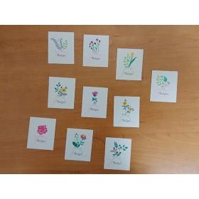 サンキュー メッセージカード 花 23