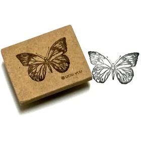 『アンティーク蝶々mini』りある柄の消しゴムはんこ