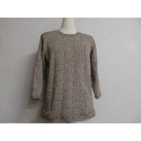 コットン素材 七分袖セーター一点物 送料無料