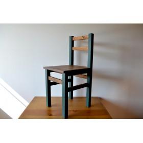 2トーンカラーの椅子 チェアー color: green×walnut