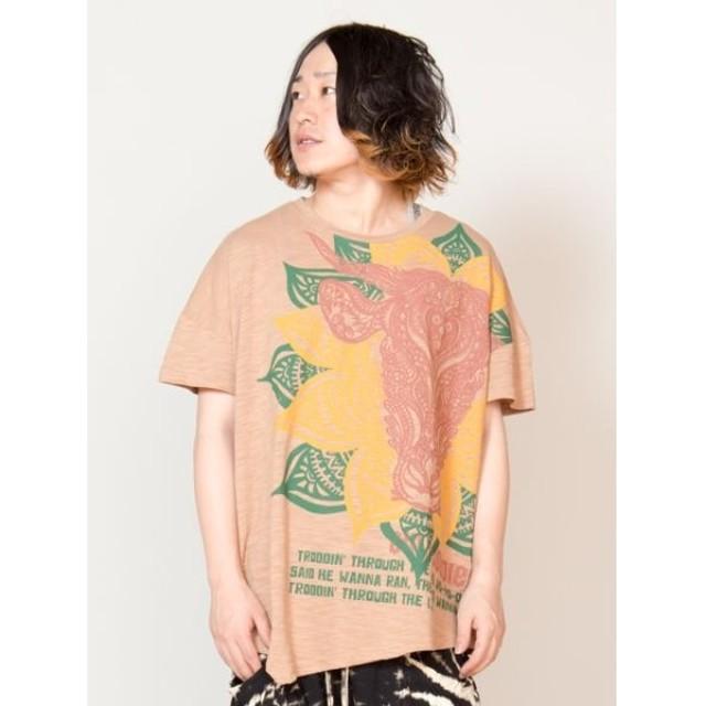 [マルイ]【セール】【チャイハネ】トライバルブル変形メンズTシャツ/チャイハネ(CAYHANE)