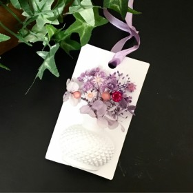 受注生産 アロマストーン 花瓶 【花束】パープル