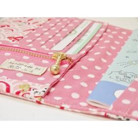 【268】【1点限り】通院セットケース<ピンクの青海波と招き猫>