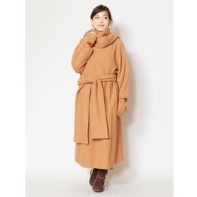 [マルイ] 【チャイハネ】ウール100%縮絨ニットコート チベタンマント/チャイハネ(CAYHANE)