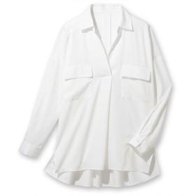 [マルイ] 【大きいサイズ】洗える機能付とろみ素材シャツチュニック/ジーラ バイ リュリュ(ファッション)(GeeRA by RyuRyu)