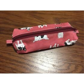 フレンチブルちゃんのピンクのペンケース