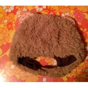 プードルファーのクマ耳帽子(kids)Mサイズ
