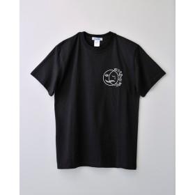 太陽と月Tシャツ ブラック