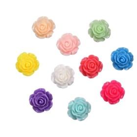 【直輸入】フラワーカボション薔薇13~15ミリ約100個セット大量卸売