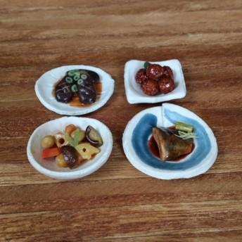 『おばんざい色々』な筑前煮・鯖の味噌煮など◆ミニチュアフード 4個セット