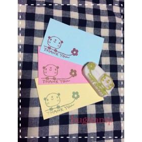 69☆再販3!お花となびく!パンダさんのthanks!消しゴムハンコ