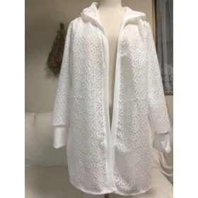 白レースの羽織り物フードデザイン