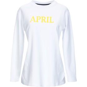《期間限定セール開催中!》,MERCI レディース スウェットシャツ ホワイト S コットン 100%