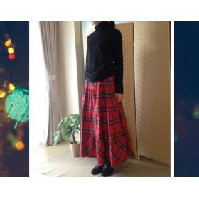 再販【受注制作】大人赤のティアードスカート