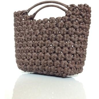 花結び編みミニバッグ