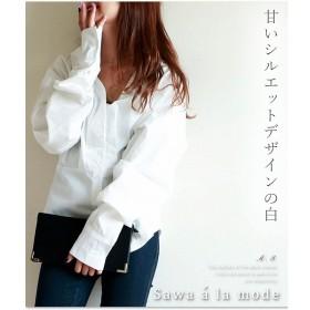 [マルイ] 華やかなシンプルボリューミーなブラウスシャツ/サワアラモード(sawa a la mode)