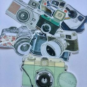マスキングテープ フレークシール(カメラ)