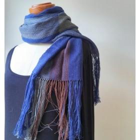 手織りストール A095