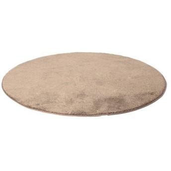 シャギーフロアラグ 丸型 ブラウン 直径140cm ホームコーディ 直径140