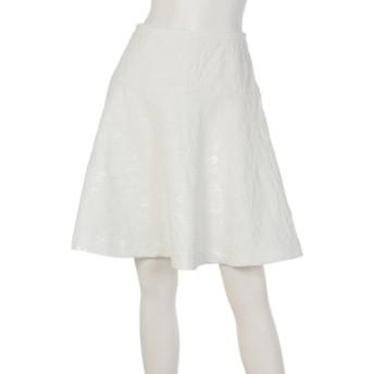 88%OFF MALIANI (マリアーニ) 【Rejoove】ふくれジャガードの大人サーキュラースカート ホワイト
