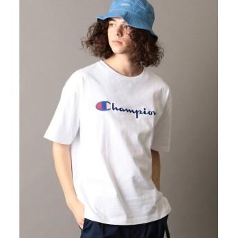 【30%OFF】 シップス SHIPS JET BLUE×Champion: 別注 ヘビーウエイト リラックス 刺繍ロゴTシャツ メンズ ホワイト LARGE 【SHIPS】 【セール開催中】