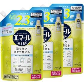 エマール 洗濯洗剤 リフレッシュグリーンの香り 詰め替え 大サイズ (920mL3コセット)