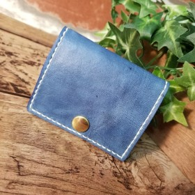 BOXコインケース 藍染
