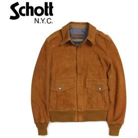 ショット Schott ジャケット スエードジャケット メンズ MEN SUEDE JACKET ブラウン