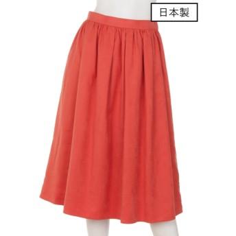72%OFF dolly-sean (ドリーシーン) 【日本製】スウェードタックギャザースカート オレンジ