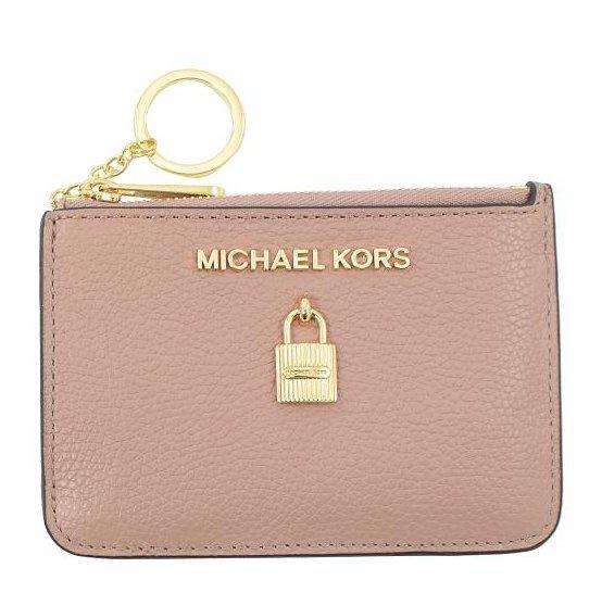MICHAEL KORS MK防刮皮革證件/鑰匙包(粉膚)