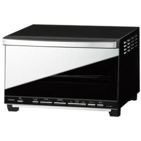 ツインバードミラーガラスオーブントースターブラックTS-D058B