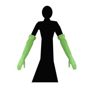 シンガー天然ゴム厚手手袋 スーパーロング 1双 M [2-7546-02] [宇都宮製作]