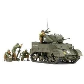タミヤ(TAMIYA) 1/35 アメリカ軽戦車 M5A1ヘッジホッグ 追撃作戦セット(人形4体付)(35313)プラモデル