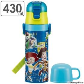 水筒 子供 トイ・ストーリー ステンレスボトル 直飲み&コップ付 2ウェイ中栓 430ml ( 保温 保冷 ステンレス )
