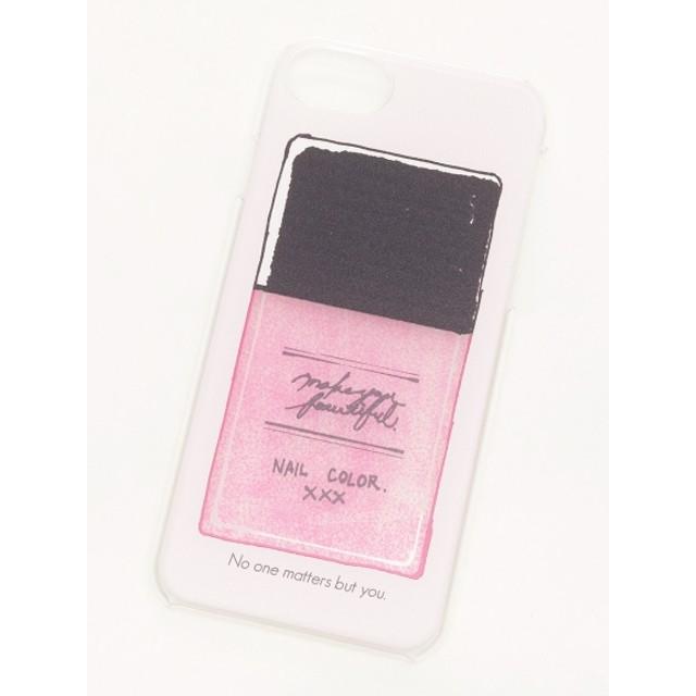 50%OFF Three Four Time (スリーフォータイム) 香水・マニキュアiPhone6~8クリアケース ピンク