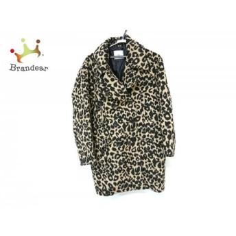 スライ SLY コート サイズ2 M レディース 美品 黒×ベージュ 冬物/豹柄 値下げ 20190603